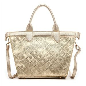 Boutique-Pink Haley Electra Shopping Tote in Gold